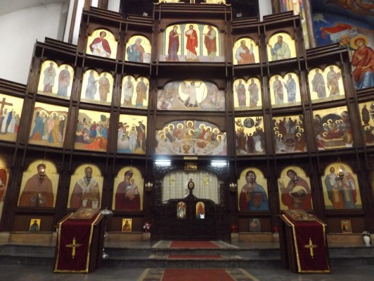 Ikonstas w cerkwi św. Klemensa z Ochrydy