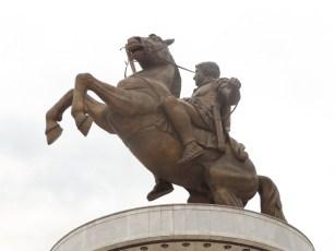 Olek Wielki na koniu