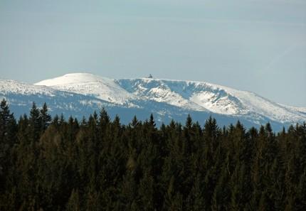 Śnieżne Kotły, widok zamkowy