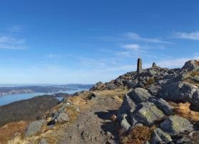 Bergen widziane z Blåmanen.