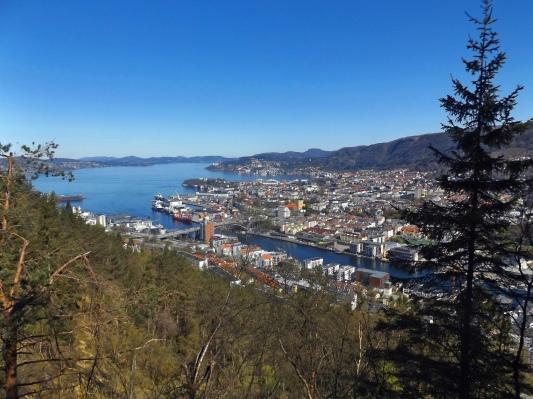 Bergen z trochę innej strony.