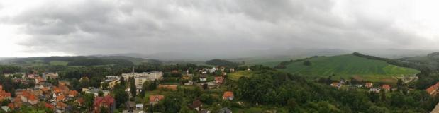 Czarne chmury.