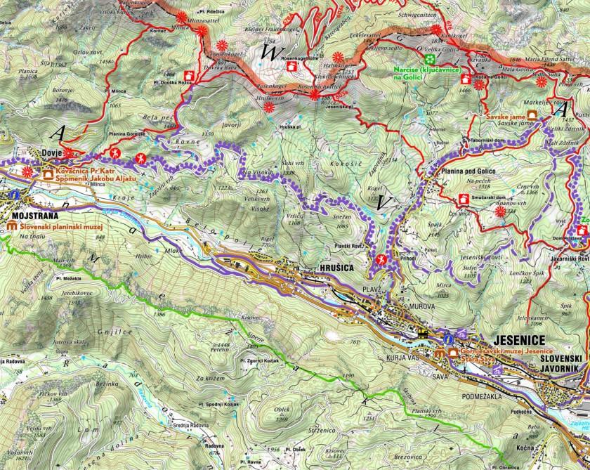mapa karawanki