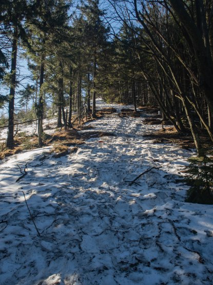 Wysoko śniegu jeszcze sporo.