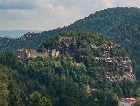 Wzgórze Oybin widziane z Ludwigshöhe