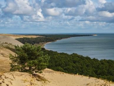 Z widokiem na Litwę.