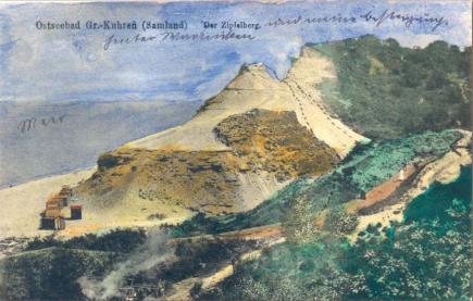 Zipfelberg na starej pocztówce.