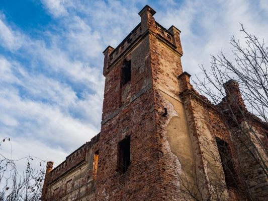 Pozostałości pałacu walczą o przetrwanie.