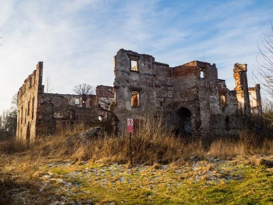 Ruiny zamku Grodztwo.