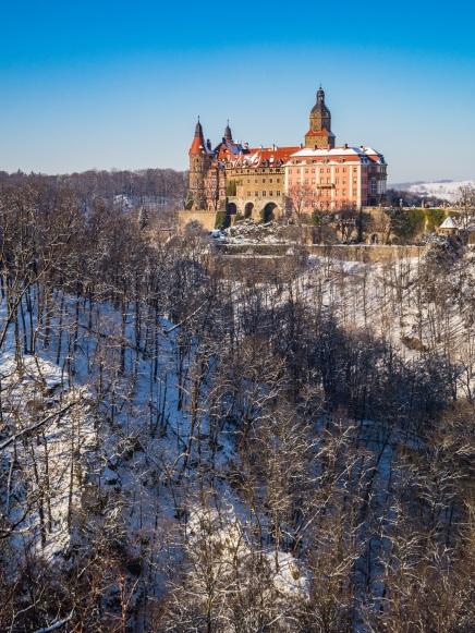 Zamek widziany z Grobu Olbrzyma.