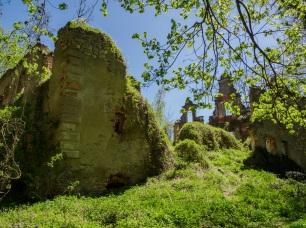 Pałac w Siedlimowicach a raczej to co z niego zostało.